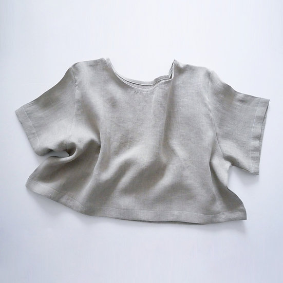 The Cropped Blouse -Fawn
