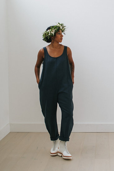 The Cocoon Jumpsuit - Blueberry