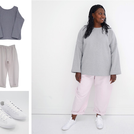 Four quick ways to style your Grey Marl Sweats...