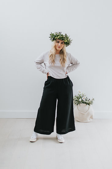 The Wide Trousers - Black (Ready to Dispatch)