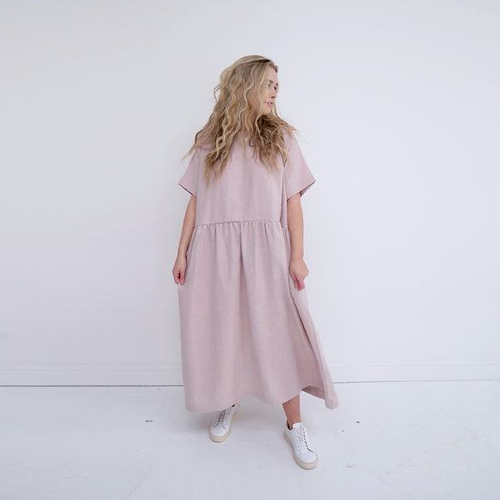 The Gathered Dress - Petal (Ready to Dispatch)