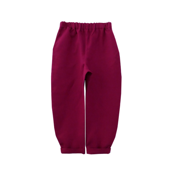 The Cocoon Trousers - Cranberry
