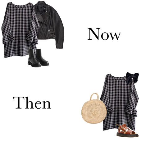 Ways to Wear our new Flutter Dress + Blouse, Now and Then.