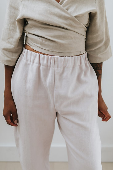 The Cocoon Trousers (New Fit) - Ice Cream (Ready to Dispatch)