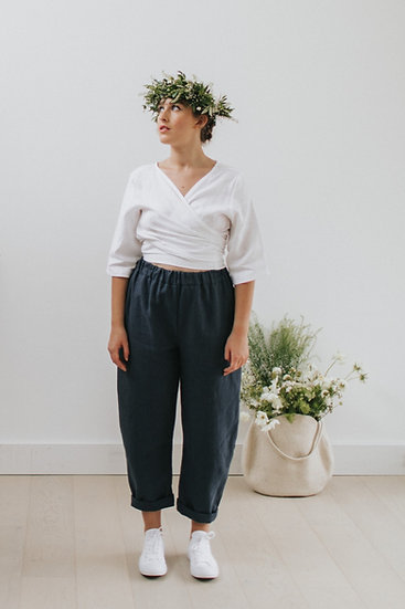 The Cocoon Trousers - Blueberry