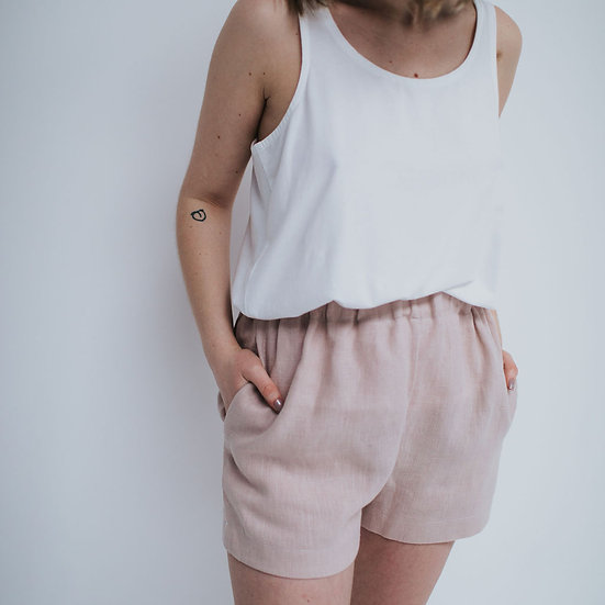 The Cocoon Shorts - Rosa (Ready to Dispatch)