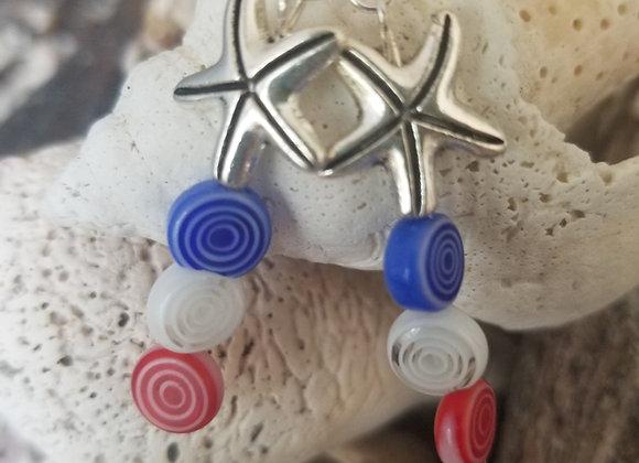Starfish Red, White, Blue