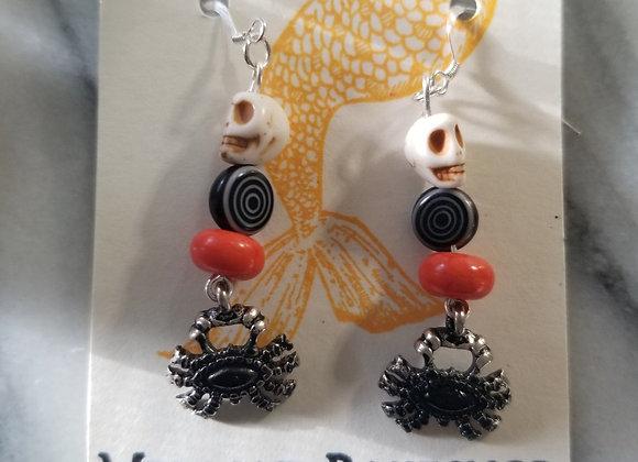 Skull & Spider Earrings