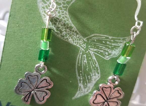 Shamrock & Green Earrings