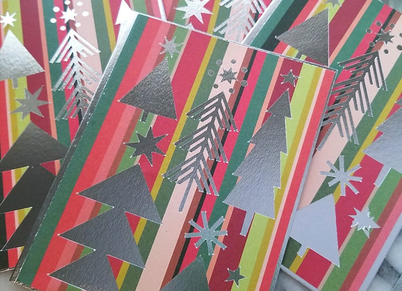 Mid Mod Christmas Cards - 4 Pack