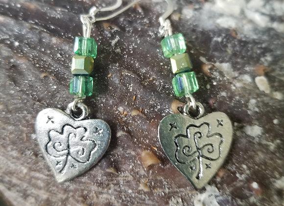 Heart & Shamrock Earrings