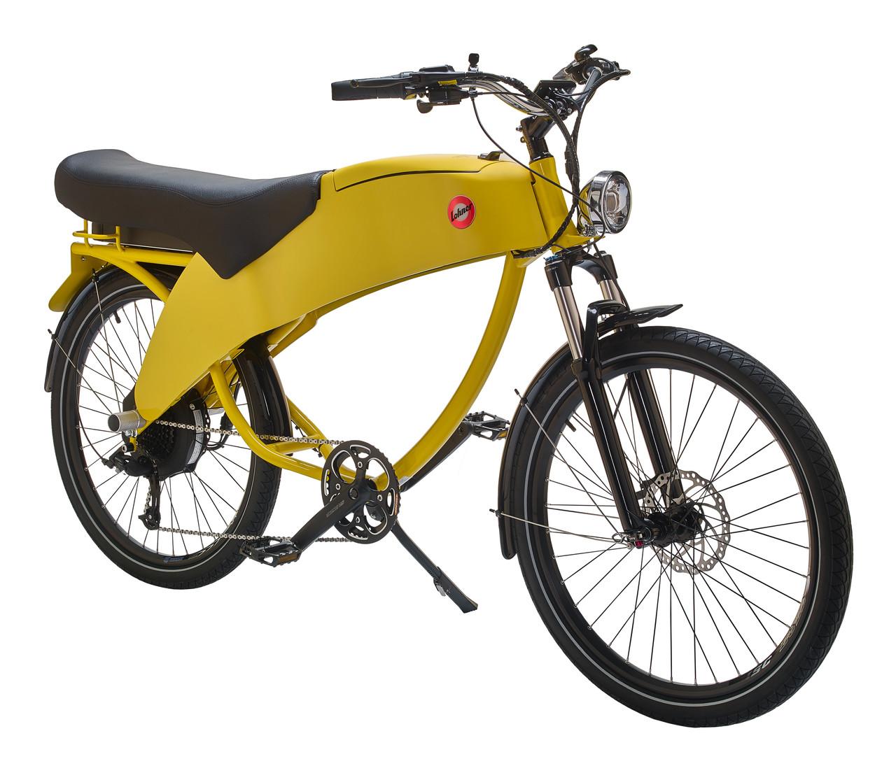 Lohner duo e-bike Hello Yellow