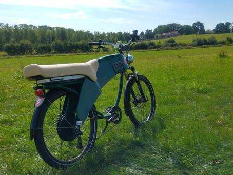 Cauberg op met mijn Lohner e-bike