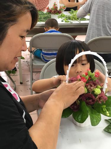 大隘村有愛無礙親子插花活動