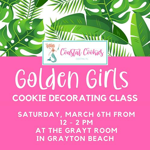 Golden Girls Theme - Cookie Decorating Class