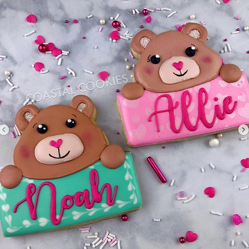 Personalized Bear Cookie