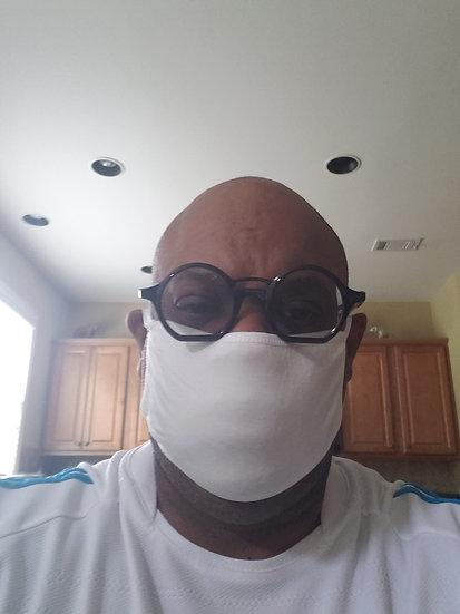 White Face Mask-5 Face Mask per order