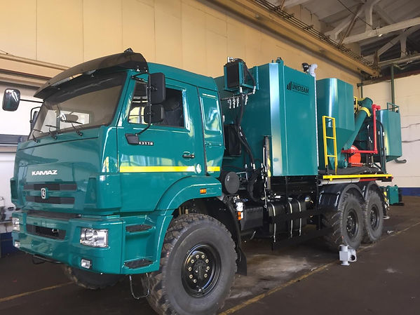 cementing equipent truck