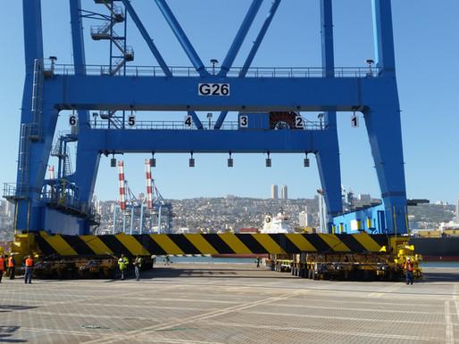 שינוע עגורני נמל במשקל 1500 טון ברציף כרמל חיפה
