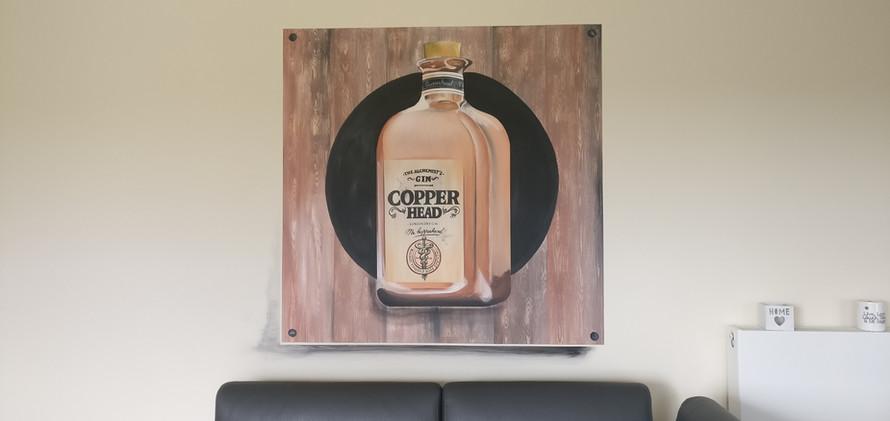 muurschildering Gin
