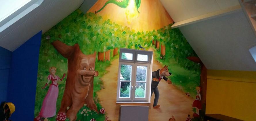 muurschildering Efteling thema