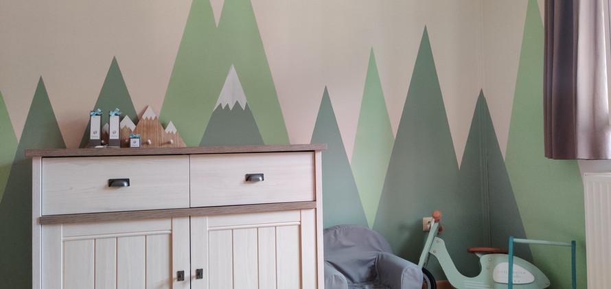 muurschildering baby kamer