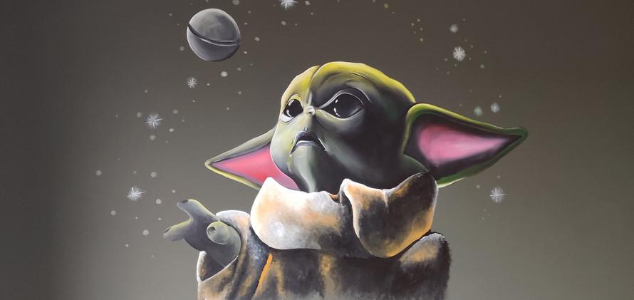 Muurschildering star wars