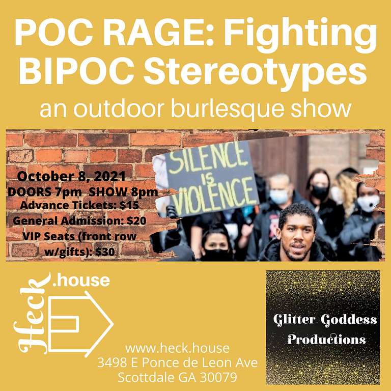 POC RAGE: Fighting BIPOC Stereotypes (a burlesque show)