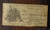 1880s J. C. Haynes & Co. Drum Label