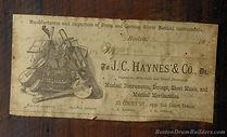 1880s J. C. Haynes & Co. Drum Label