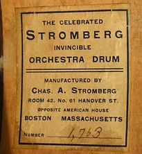 Stromberg Invincible Orchestra Drum Label ca. 1910s