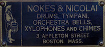 Nokes & Nicolai Drum Badge ca. 1912 - 1920