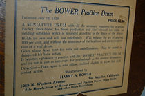 Harry A. Bower Practice Drum Label