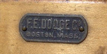 F. E. Dodge Drum Badge