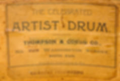 Thompson & Odell Drum Label ca. 1902 - 1905