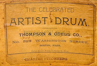 Thompson & Odell Drum Label ca. 1902 - 1905