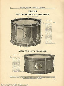 Ditson Wonderbook No. 4, 1910 - Dress Parade Snare Drum & Army and Navy Standard Model
