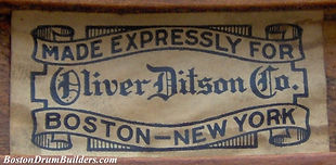Made Expressly For Oliver Ditson Company Drum Label