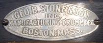 George B. Stone & Son Master-Model Drum Badge