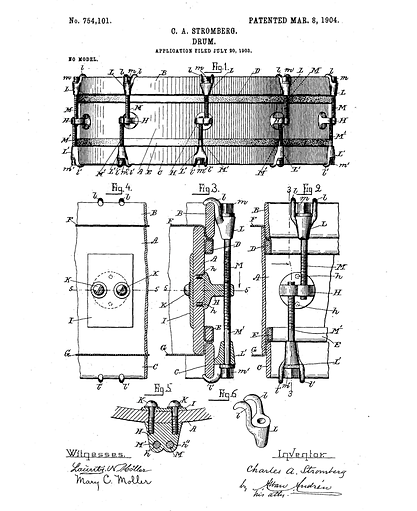 1904 Charles A. Stromberg Patent Illustration