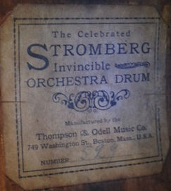 Stromberg Drum Label ca. 1902 - 1905