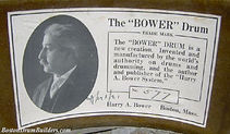 Harry A. Bower Drum Label - April 1, 1921