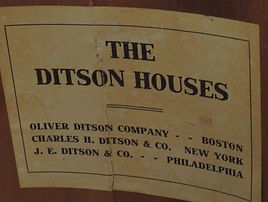 Ditson Houses Drum Shell Label, ca. 1904 - 1910