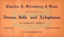 Charles A. Stromberg Drum Label