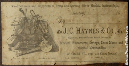 ca. 1880 J. C. Haynes & Co. Drum Label