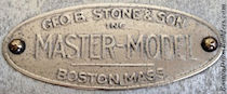 Geo. B. Stone Master-Model Drum Badge, ca. 1925 - mid 1930s