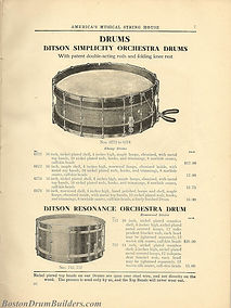 Ditson Wonderbook No. 4, 1910 - Simplicity Orchestra Drums & Resonance Orchestra Drum