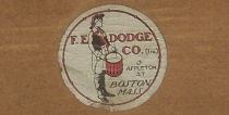 F. E. Dodge Drum Label