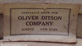 Specially Made For Oliver Ditson Company Drum Label