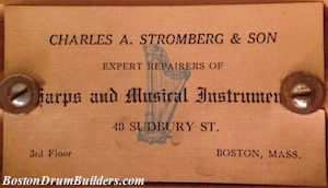 Charles A. Stromberg & Son Drum Label, ca. late 1910s